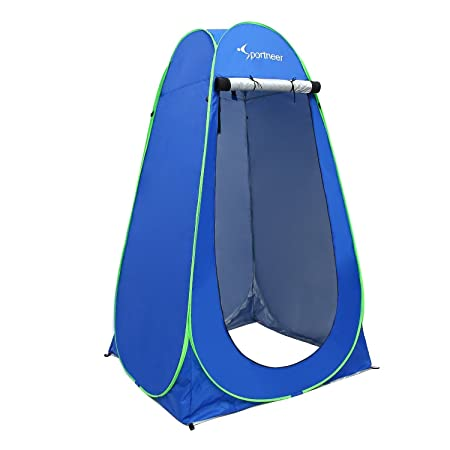 Pop Up Camping Shower Tent, Sportneer Portable Dressing Changing Room Privacy Shelter Tents for Outdoor Camping Beach Toilet and Indoor Photo Shoot with Carrying Bag, 6.25 ft Tall