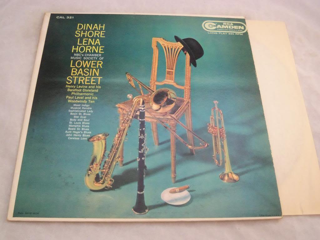 Dinah Shore Lena Horne NBC's Chamber Music Society of Lower Basin Street, RCA Camden CAL 321, Mono: Henry Levine and His Barefoot Dixieland Philharmonic, Paul Laval and his Woodwindy Ten, Vinyl Lp Record Ex