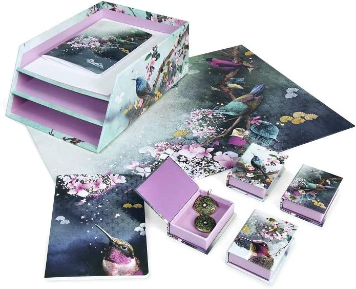 Clairefontaine 115608C Sakura dream 96 pagine A4-21 x 29,7 cm fantasie assortite margine a righe Quaderno spillato
