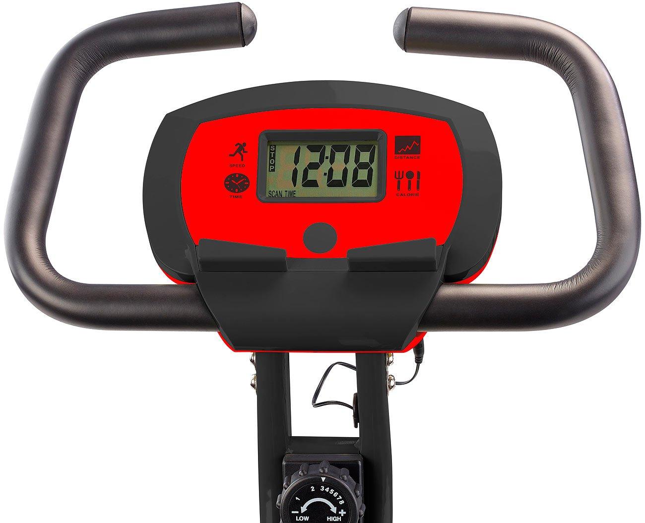 Tablet Halterung Heimtrainer Schwungmasse-Heimtrainer HT-516 mit Notebook- PEARL Sports Ergometer Tablet-Halter bis 14