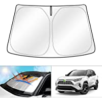kotesoto Front Windshield Sun Shade Compatible for RAV4 2019 2020 2021 Foldable Front Window Sunshade Protector Heat…