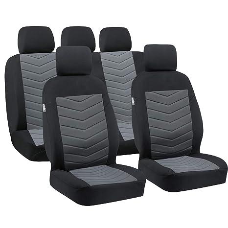 color negro piel sint/ética Big Ant 2 piezas auto asiento coj/ín para asientos delanteros de coche con protector de bordes