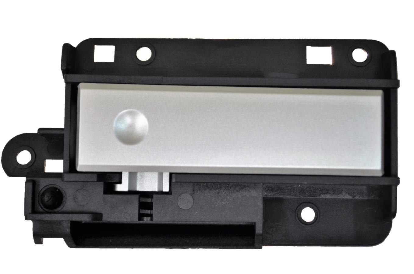 PT Auto Warehouse GM-2647RA - Glove Box Compartment Lock Latch Handle, Black Housing with Silver Lever