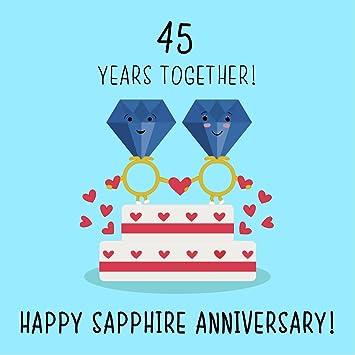 45th wedding anniversary card sapphire anniversary amazon co uk