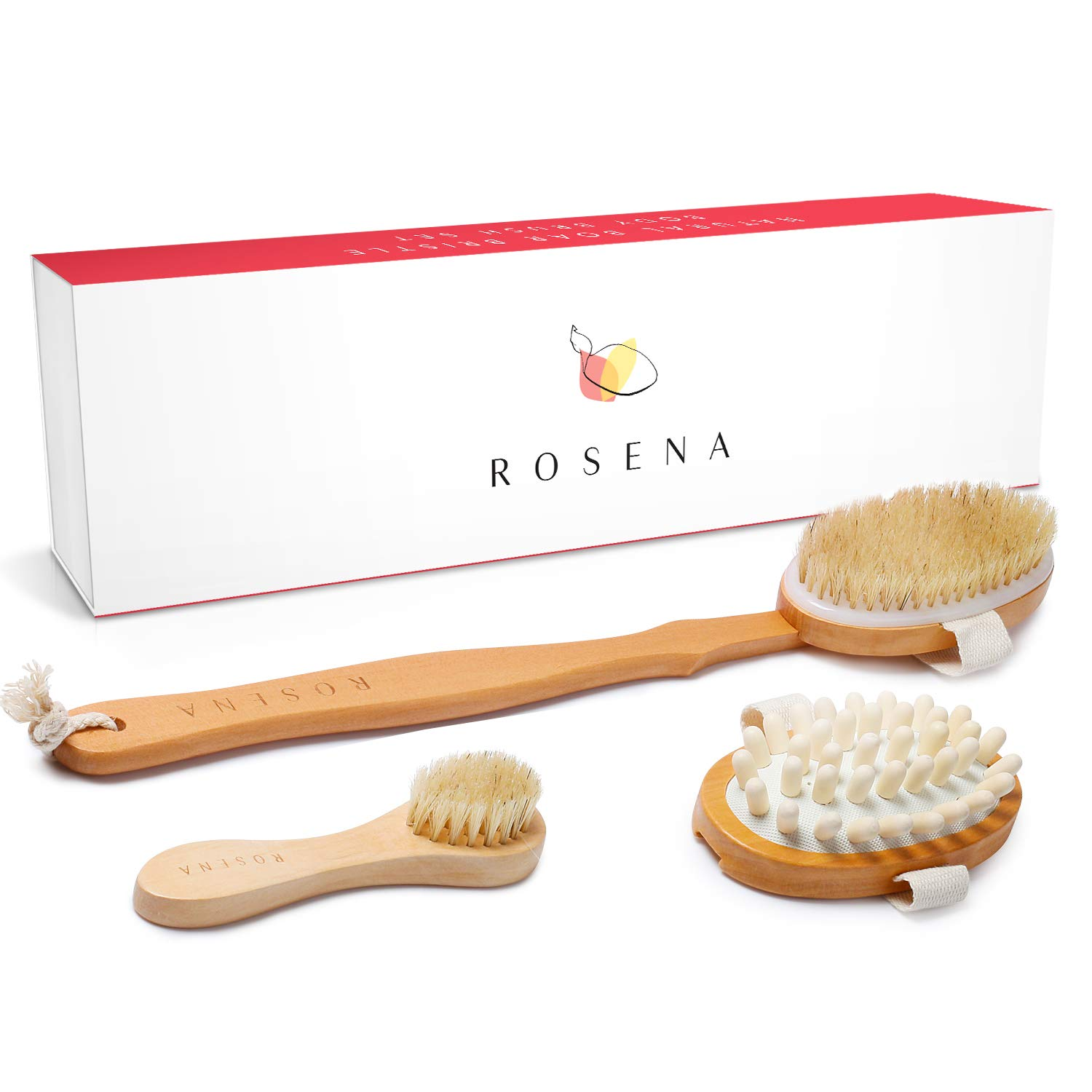 Amazon Com Dry Brushing Body Brush Set Best For Cellulite
