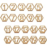 gotyou 1-20 Tarjeta Digital de Madera,Hexagonal Números