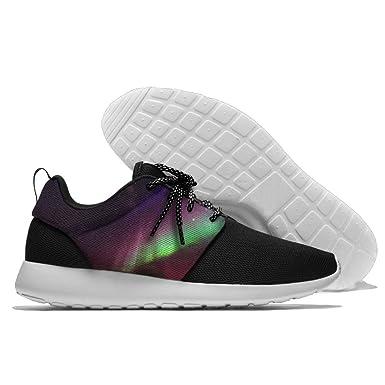 2891b4115fdcc Amazon.com: Men's Leisure Sports Shoes Aurora Flag Fashion Running ...