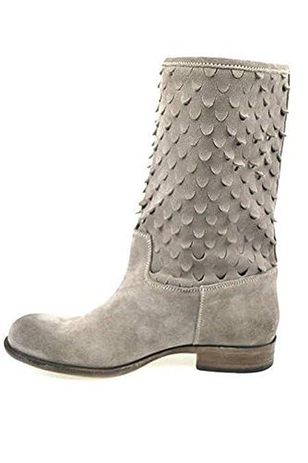 BRACCIALINI 40 Stiefeletten Damen Grau Wildleder AP637 -E: Amazon.de:  Schuhe & Handtaschen
