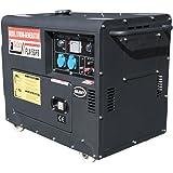 schallgedämmter Diesel Stromerzeuger mit 5.5 kW Dauerleistung und Elektrostarter.
