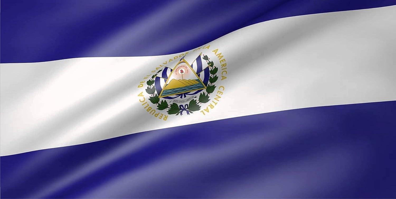 EL Salvador Flag Photo License Plate