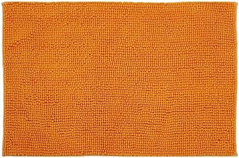 Diluma Badematte Chenille 50x80 Cm Orange Rutschfester Hochflor Badteppich Luxus Wellness Badvorleger Saugfähig Und Flauschig Küche Haushalt