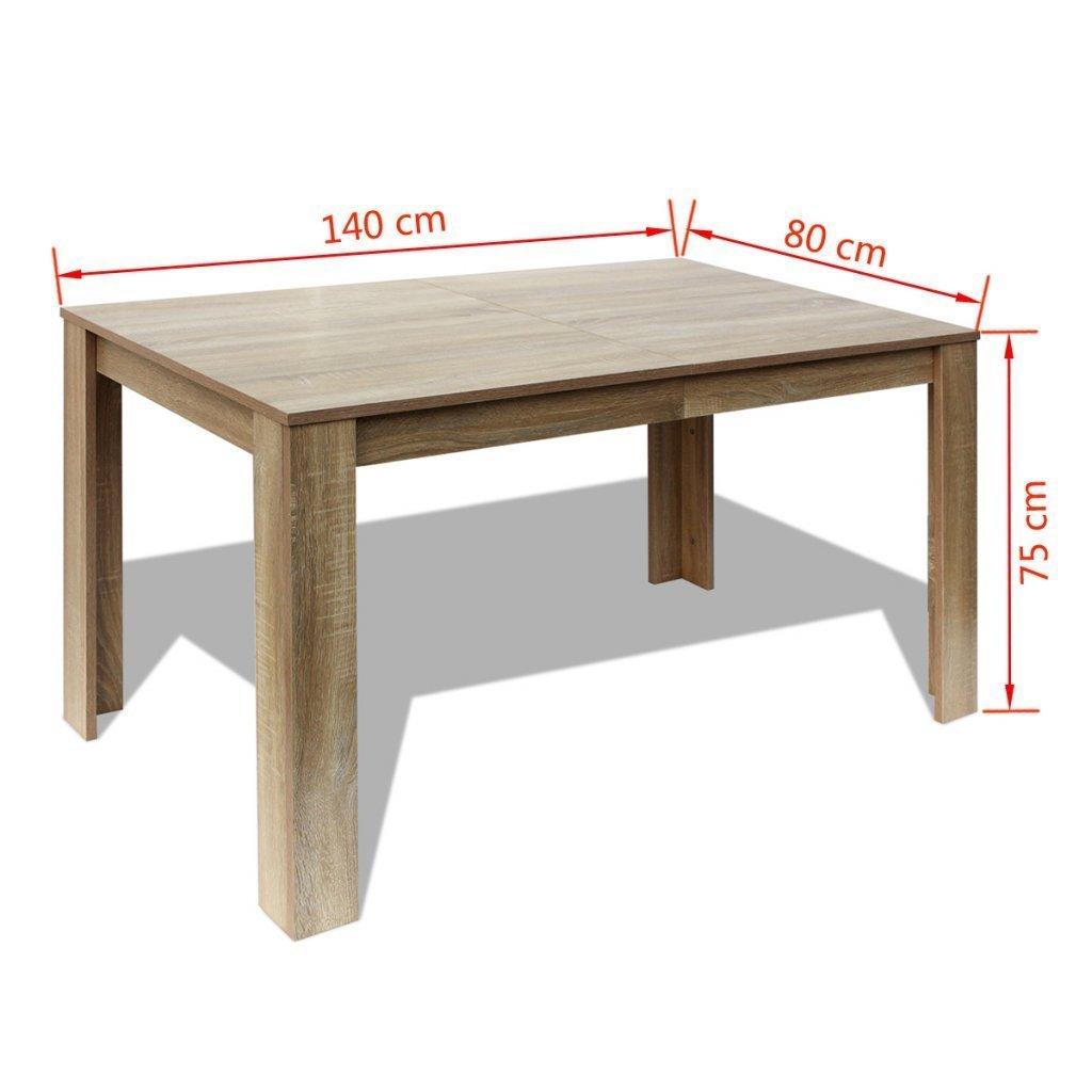 Festnight Kitchen Dining Table Dining Room Furniture 140 x 80 x 75 cm Oak//White