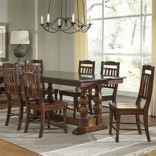 A-America Andover 7 Piece Counter Height Dining Set in (7 Piece Cherry Brown Counter)