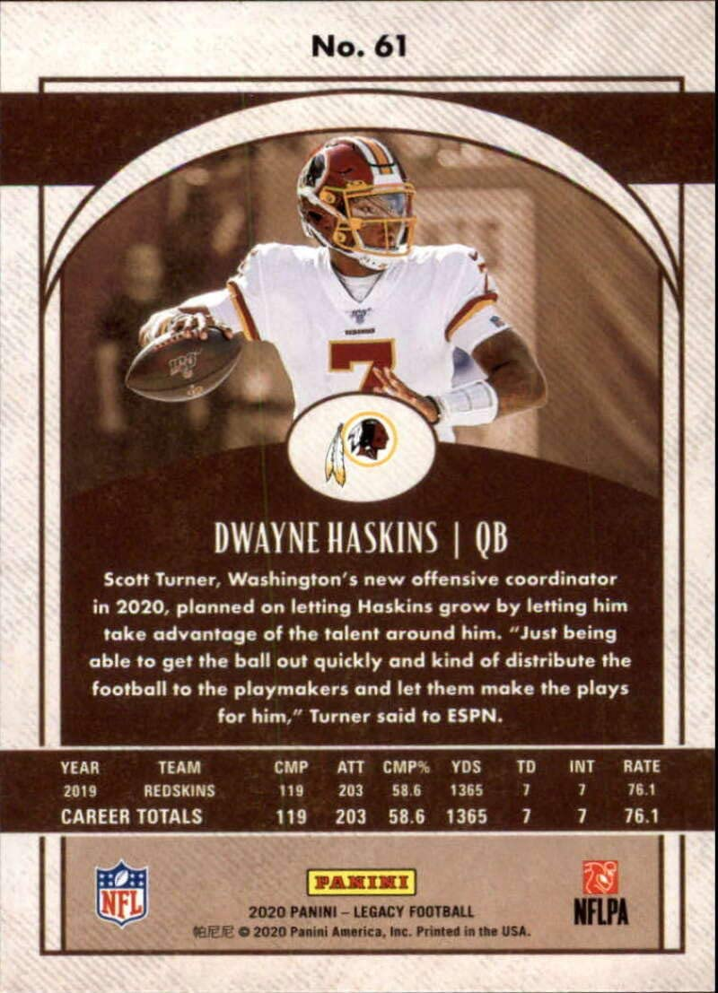 2020 Panini Legacy Football #61 Dwayne Haskins