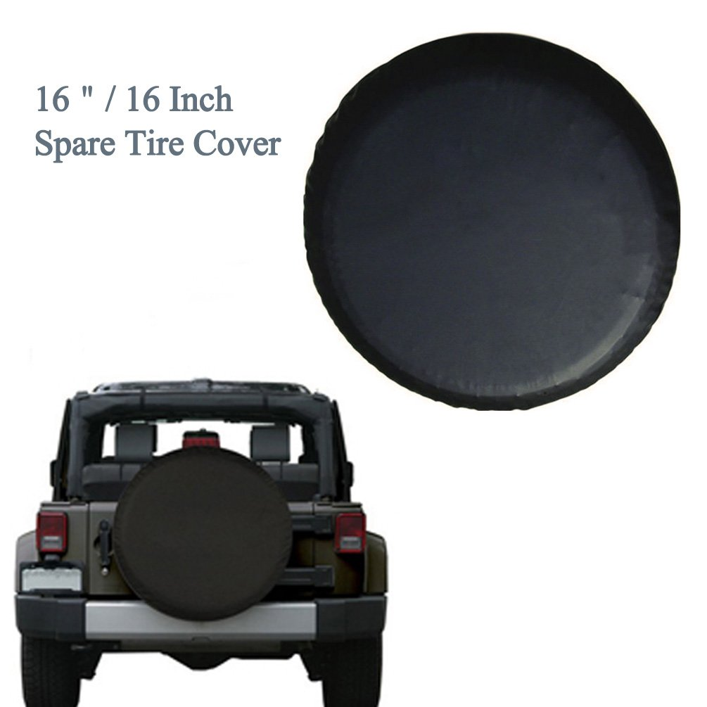 76 ~ 16 cm rueda rueda de repuesto cubierta R16 Universal negro Roccs para neumáticos neumático rueda de repuesto pantalla para Jeep SUV Coches Overdrive: ...