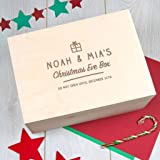 PERSONALISED Engraved Large Wooden Children/'s Christmas Eve Box Gift Box Gift