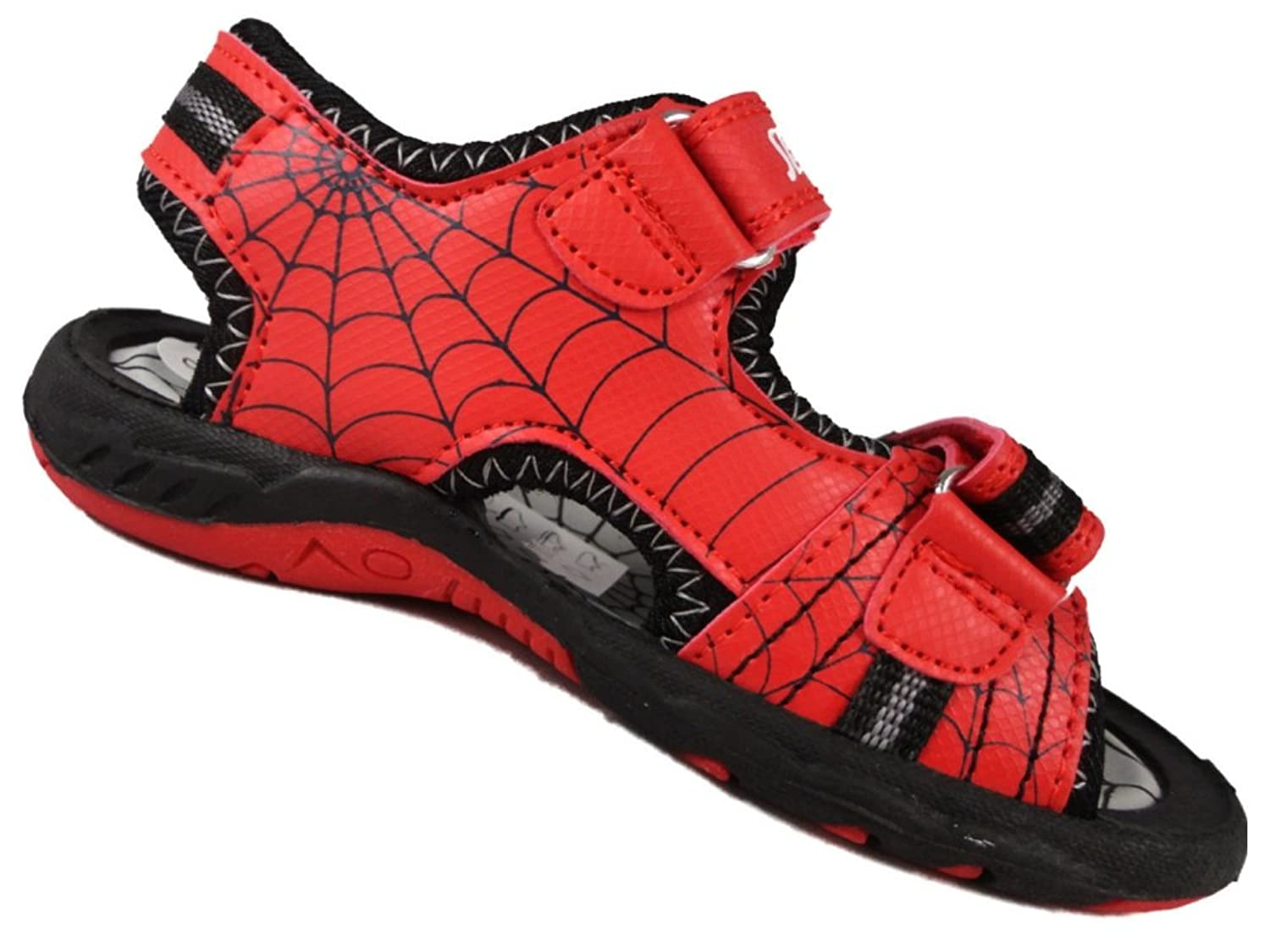 Boys Spiderman Childrens Red Beach Walking Sandal Trainer Shoes Velcro 7-1Uk:  Amazon.co.uk: Shoes & Bags