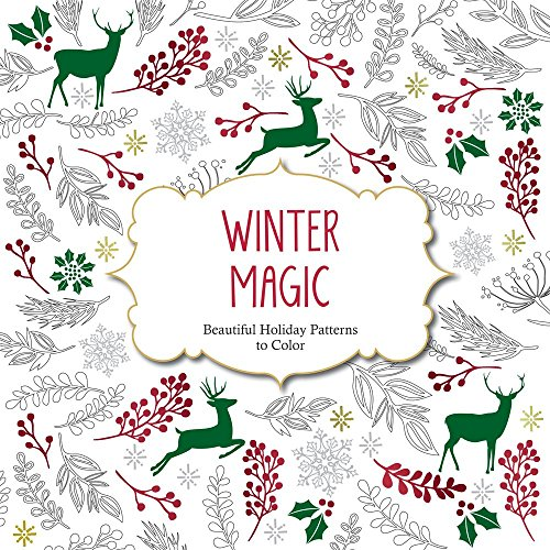 Winter Magic: Beautiful Holiday Patterns Coloring Book for