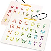 CozyBomB Magnetic Alphabet Tracing Board - Double Sided Alphabet Trace Board - Preschool ABC Writing Learning Toy…