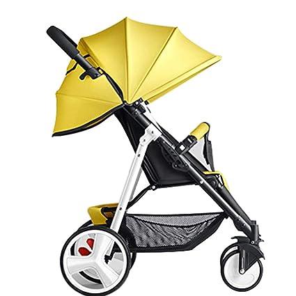 YEC Cochecito de bebé sentado sentado paraguas portátil reclinable portátil plegable carrito de bebé de choque