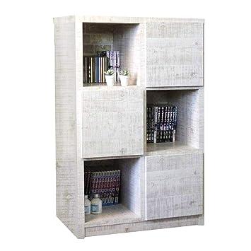 12425e184a Amazon|70-3ラック ラッキー 1-9 (WH) 書棚 本棚 収納家具 多目的ラック ...