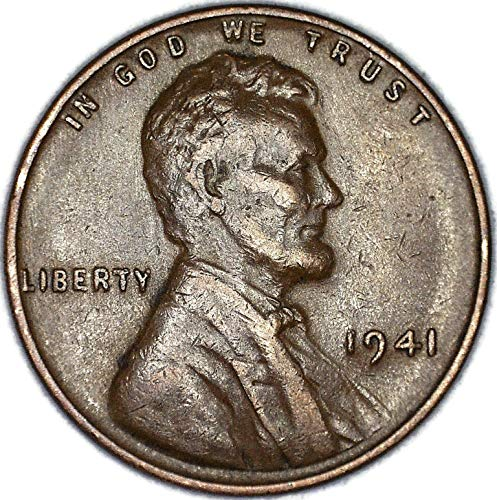 1941 P Lamination Error Lincoln Wheat Cent Very Fine