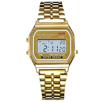Nisels Reloj automático Unisex Reloj automático LED Reloj electrónico Digital Reloj Forma Cuadrada: Amazon.es: Relojes