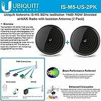 Ubiquiti IS-M5-US 5GHz IsoStation CPE 14dBi ROW Radio Isolation Antenna (2Pack)