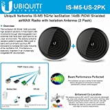 Ubiquiti IS-M5-US 5GHz IsoStation CPE 14dBi ROW Radio Isolation Antenna (2Pack)