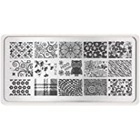 Koalcom Beauty Nail Stencils Nails Art Designs Stamp Templates Plates for Gel Nail Polish Manicure Image Stamping Plate Decorations Picker mage Plate