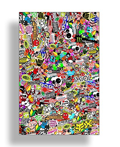 (Graffiti Sticker Bomb 1:10 scale RC Remote Control Scale Body Display Decal Sheets JDM)
