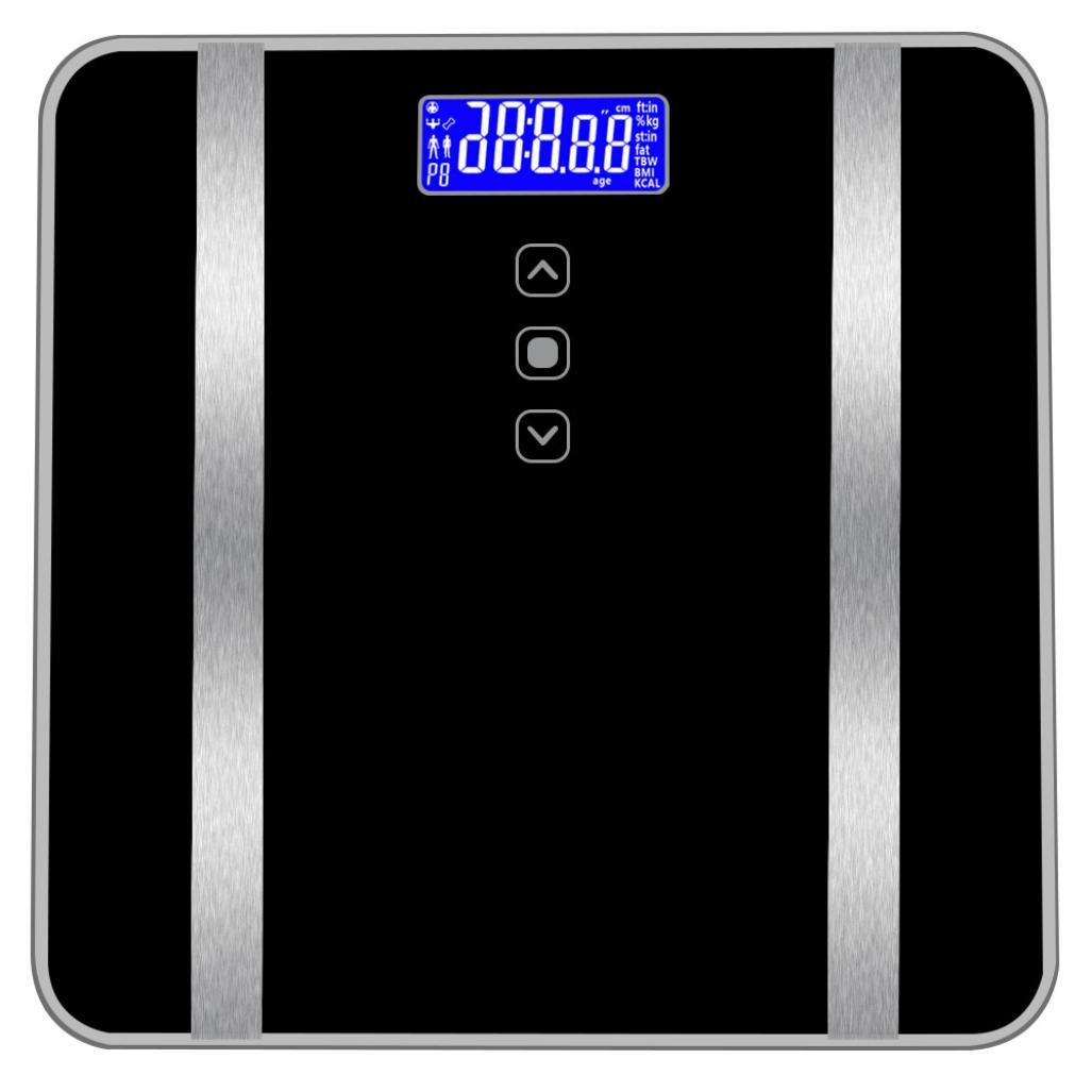 Jinjin Smart Scale - Accurate Bathroom Body Fat Scale Display Seven Items of Data 180KG/400 pounds (Black)