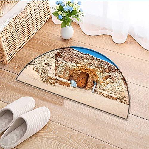 Carpet Floor mat Bath mat Door mat of Abandoned Sets of The Movie in Tunisia Desert Phantom Galaxy Wars Themed Water-Absorbing Floor mat Anti-Slip mat W31 x H20 INCH by Jiahonghome