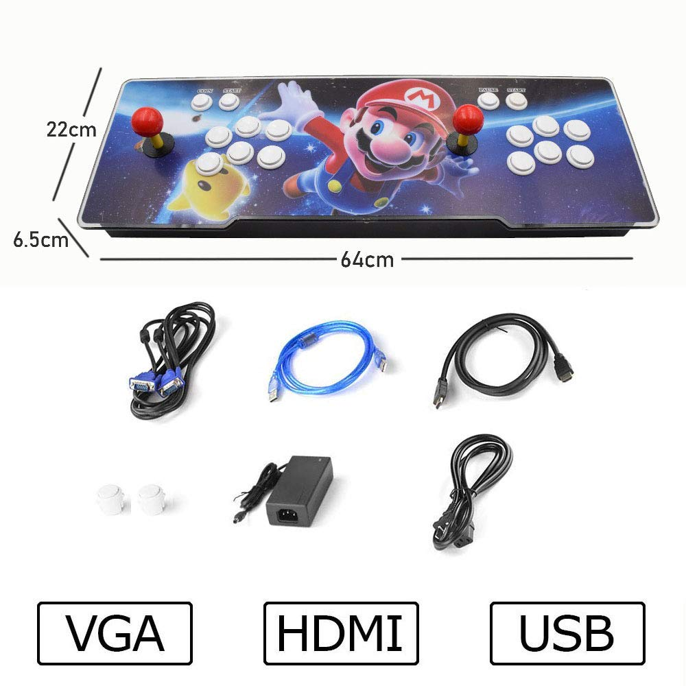 3D Pandora Key 7 Arcade Game Console | 2413 Retro HD Games | Support 3D Games | Add More Games | Support 4 Players | Full HD (1920x1080) Video | 2 Player Game Controls | HDMI/VGA/USB/AUX Audio Output by HAAMIIQII (Image #6)