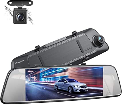 7/'/' Full HD 1080P Dual Lens Car DVR Rearview Mirror Camera Dash Cam G-sensor USB