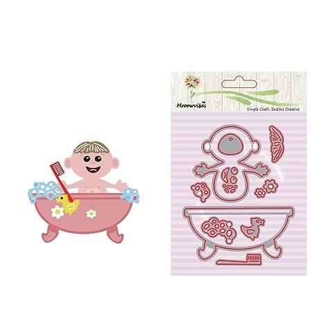 Cencity - Plantillas para cortar la ducha del bebé para manualidades, álbum de fotos,