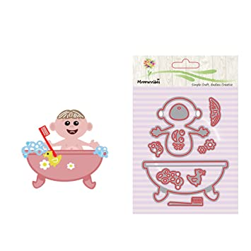 Cencity - Plantillas para cortar la ducha del bebé para manualidades, álbum de fotos, tarjeta de papel: Amazon.es: Juguetes y juegos