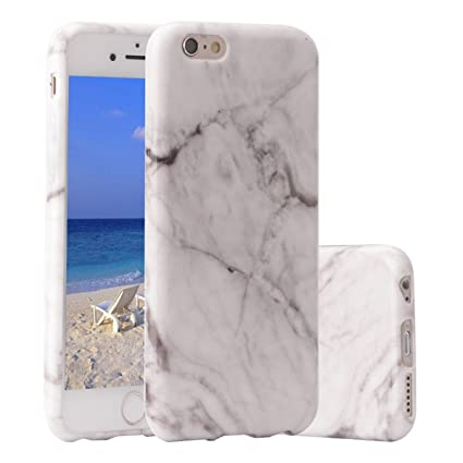 Funda iPhone 6s plus,ZXK CO Carcasa del Gel TPU Silicona para iPhone 6 Plus /iPhone 6s Plus 5.5 Diseño Mármol de Amortiguación y Anti-Arañazos ...
