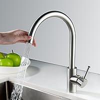 Homelody 360° drehbar Armatur Küche Wasserhahn Spültisch Küchenarmatur Edelstahl Spültischarmatur Spülbecken Mischbatterie Spüle