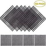 Aboat 100 Pack 2 x 2 Inch Rigid Polyethylene Garden's Drainage Mesh Hole Screens