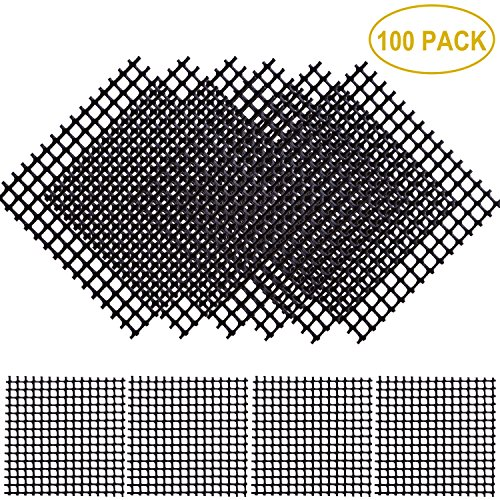 Plastic Mesh Pot - Aboat 100 Pack 2 x 2 Inch Rigid Polyethylene Garden's Drainage Mesh Hole Screens