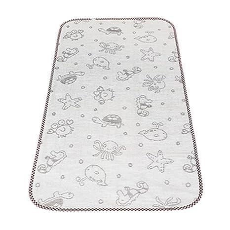 Almohadilla para cambiar pañales impermeable para bebés de verano Estera para dormir, 120x60cm