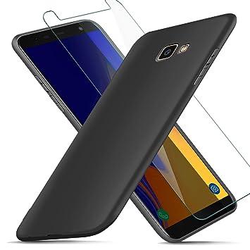AROYI Funda Samsung Galaxy J4 Plus + Protector de Pantalla, Carcasa Samsung Galaxy J4 Plus Silicona Ultra Suave TPU Anti-Golpes Flexible Cover Case ...