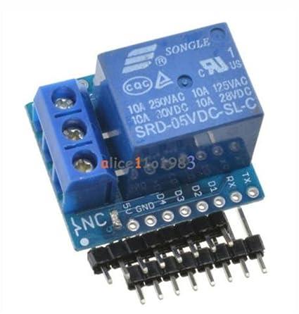New Relay Shield For Arduino Wemos D1 Mini Esp8266 Development Board