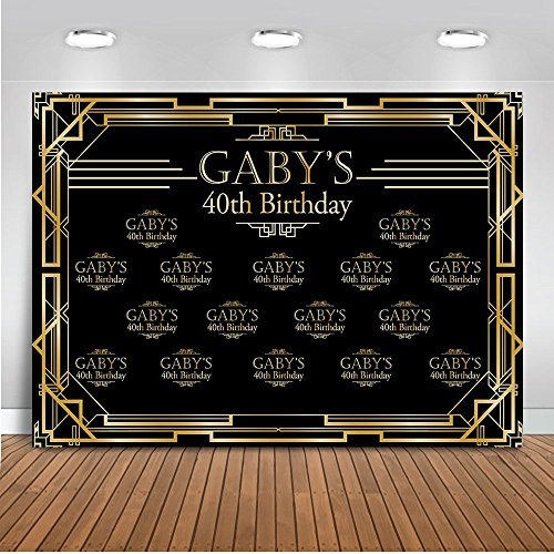 Mehofoto Customized Great Gatsby 40th 50th 60th Birthday