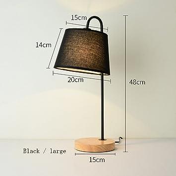Pin Lámpara de Noche de Dormitorio de Madera Creativa ...