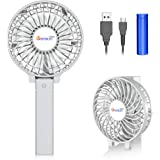VersionTECH. Mini Portable Fan, USB Battery Operated Desk Fan, Small Personal Handheld Table Fan with USB Rechargeable…