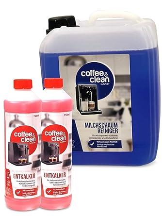 Limpiador de espuma de leche de 5 L + descalcificador líquido de 1 ...
