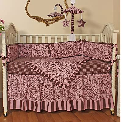 Hoohobbers 4-Piece Crib Bedding, Whirly Pink by Hoohobbers