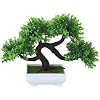 Whthteey Bonsai Tree Decorative Artificial Plant Faux Potted Plant Office Home Decor